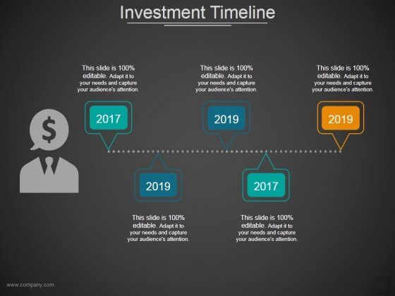 Investment Timeline Ppt PowerPoint Presentation Infographic Template Template