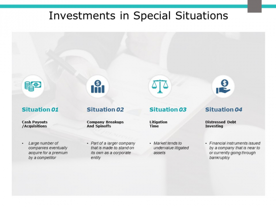 Investments In Special Situations Ppt PowerPoint Presentation Gallery Graphics Template