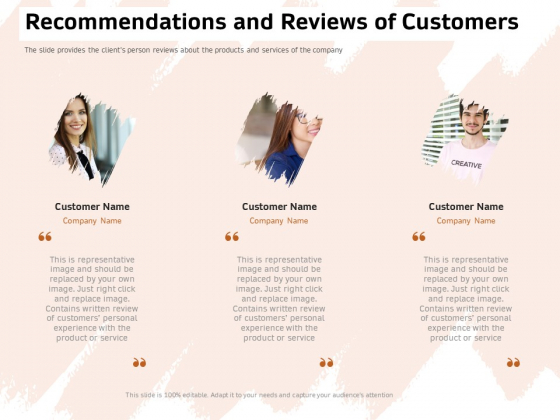 Investor Deck For Capital Generation From Substitute Funding Options Recommendations And Reviews Of Customers Guidelines PDF