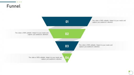 Investor Pitch Deck New Venture Capital Raising Funnel Brochure PDF