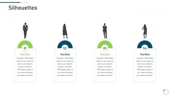 Investor Pitch Deck New Venture Capital Raising Silhouettes Slides PDF