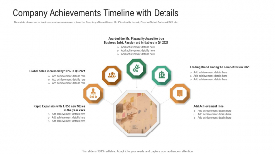 Investor_Pitch_Deck_To_Generate_Venture_Capital_Funds_Company_Achievements_Timeline_With_Details_Designs_PDF_Slide_1