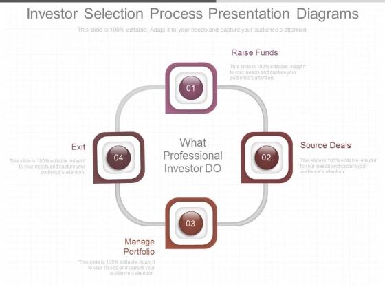 Investor Selection Process Presentation Diagrams