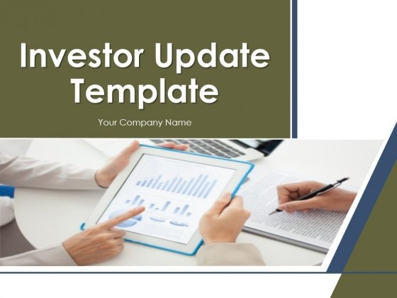 Investor Update Template PowerPoint Presentation Complete Deck With Slides