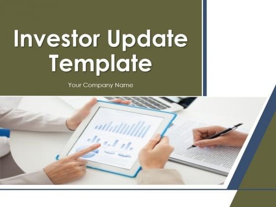 investor update template powerpoint presentation complete deck, Modern powerpoint