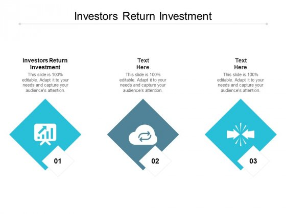 Investors Return Investment Ppt PowerPoint Presentation Pictures Background Cpb
