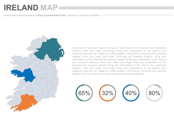 Ireland Map With Financial Ratio Analysis Powerpoint Slides