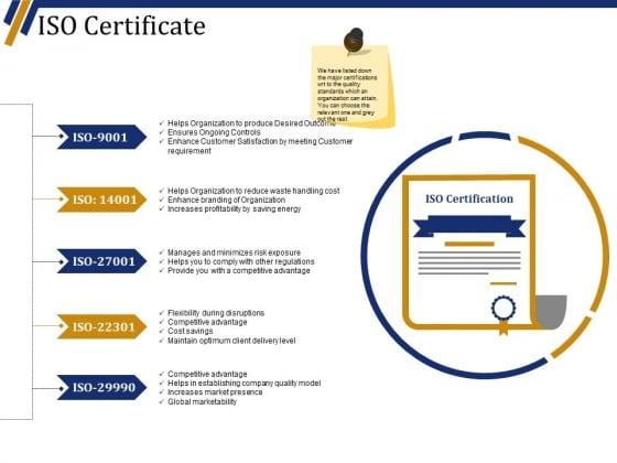 Iso Certificate Ppt PowerPoint Presentation Portfolio Infographics