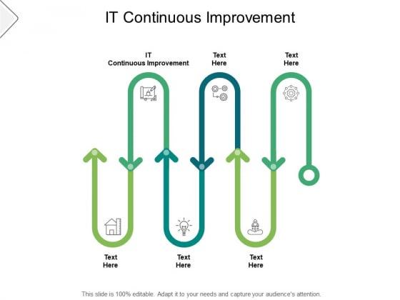 It Continuous Improvement Ppt PowerPoint Presentation Slides Icons Cpb