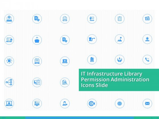 It Infrastructure Library Permission Administration Icons Slide Elements PDF