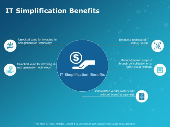 It Simplification Benefits Ppt PowerPoint Presentation Styles Example Introduction