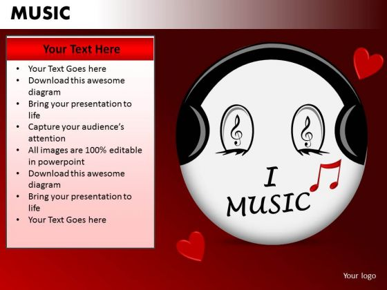 I Love Music PowerPoint Templates Editable Ppt Slides