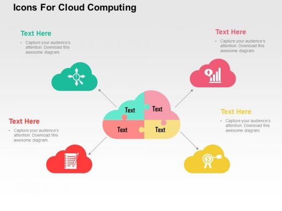 Icons For Cloud Computing PowerPoint Template