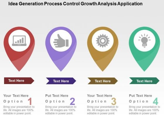 idea generation process control growth analysis application powerpoint template powerpoint templates