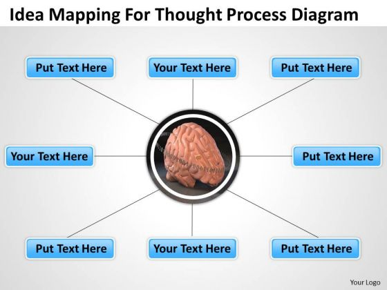 Idea Mapping For Thought Process Diagram Ppt Software Business Plan PowerPoint Slides