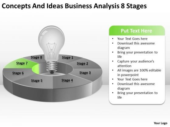 Ideas Business Analysis 8 Stages Ppt How To Create Plan PowerPoint Slides