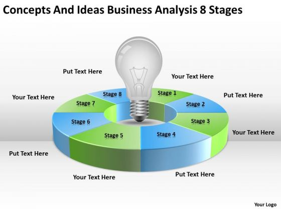 Ideas Business Analysis 8 Stages Ppt Writing Plan Template PowerPoint Templates