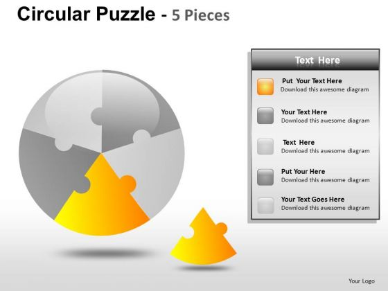 Identify Pieces 5 Stage Circle PowerPoint Slides And Ppt Diagram Templates