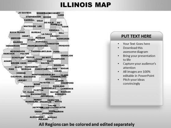 Illinois PowerPoint Maps