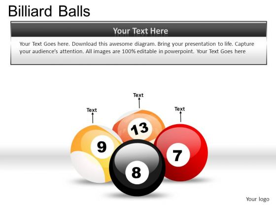 Illustration Billiard Balls PowerPoint Slides And Ppt Diagram Templates