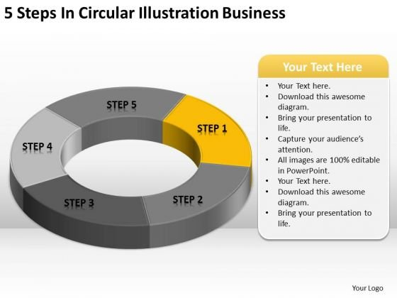 Illustration Business PowerPoint Theme Plan Outline Templates