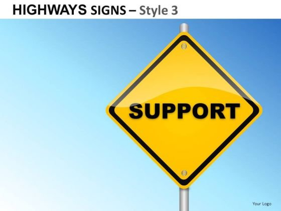 Illustration Inhouse Highways Signs 3 PowerPoint Slides And Ppt Diagram Templates