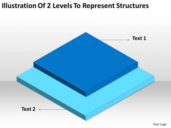 Illustration Of 2 Levels To Represent Structures Ppt Business Plan PowerPoint Templates