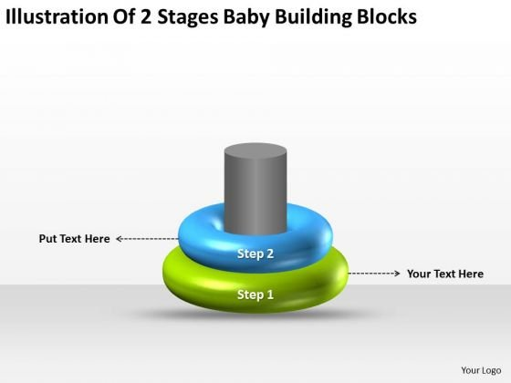 Illustration Of 2 Stages Baby Building Blocks Ppt Business Plan PowerPoint Slides