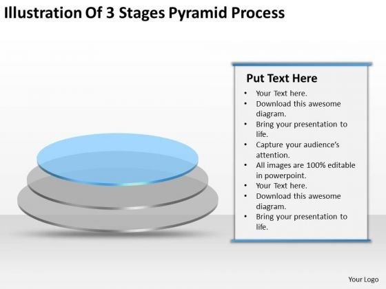 Illustration Of 3 Stages Pyramid Process Ppt Business Plan Forms PowerPoint Slides