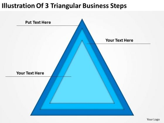 Illustration Of 3 Triangular Business Steps Plan PowerPoint Templates
