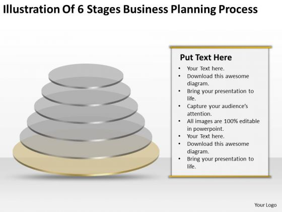 Illustration Of 6 Stages Business Planning Process Plans PowerPoint Slides