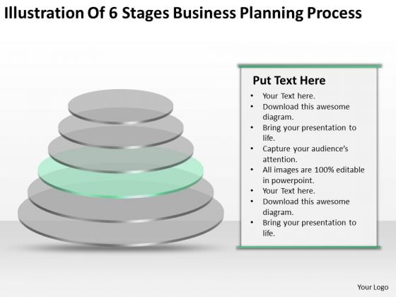 Illustration Of 6 Stages Business Planning Process Ppt PowerPoint Slides