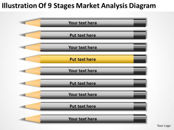 Illustration Of 9 Stages Market Analysis Diagram Business Plan PowerPoint Templates
