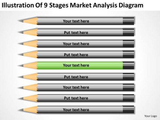 Illustration Of 9 Stages Market Analysis Diagram Ppt Business Plan Formats PowerPoint Templates