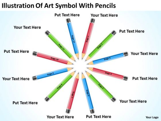 Illustration Of Art Symbol With Pencils Ppt 1 Business Financial Plan PowerPoint Slides