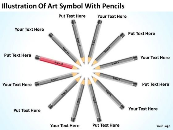 Illustration Of Art Symbol With Pencils Ppt How To Develop Business Plan PowerPoint Templates