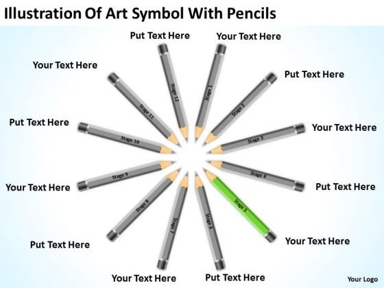 Illustration Of Art Symbol With Pencils What Is Business Plan PowerPoint Slides