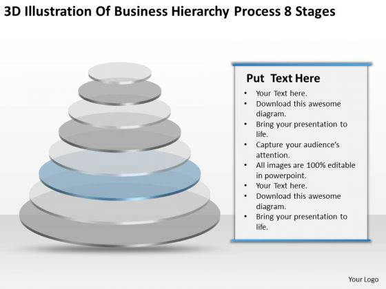 Illustration Of Business Hierarchy Process 8 Stages Ppt Catering Plan PowerPoint Slides