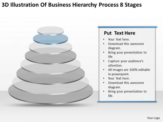Illustration Of Business Hierarchy Process 8 Stages Ppt Plan PowerPoint Slides