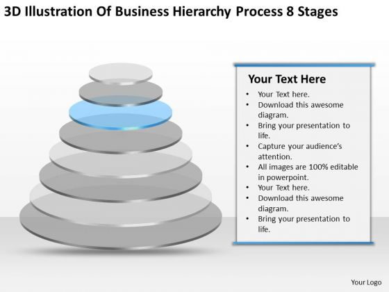 Illustration Of Business Hierarchy Process 8 Stages Ppt Plans PowerPoint Templates