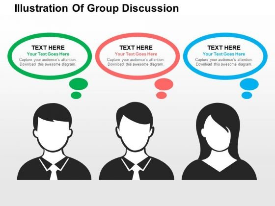 Illustration Of Group Discussion PowerPoint Templates