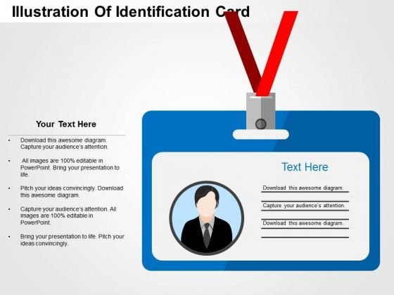Illustration Of Identification Card PowerPoint Templates