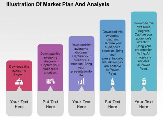 Illustration Of Market Plan And Analysis PowerPoint Templates