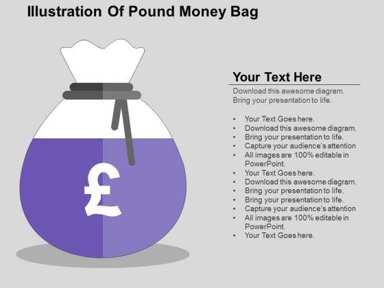 Illustration Of Pound Money Bag PowerPoint Templates