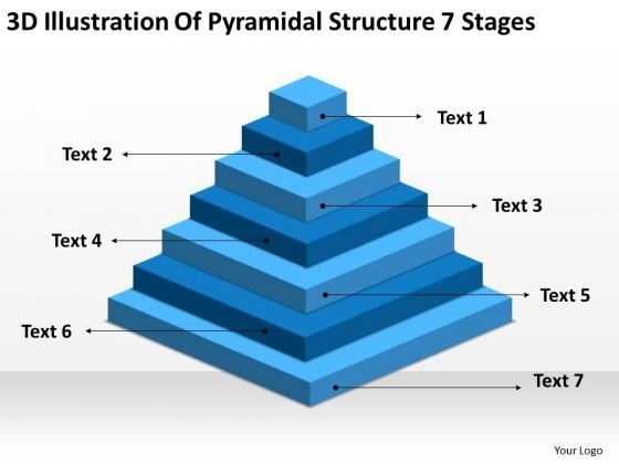 Illustration Of Pyramidial Structure 7 Stages Ppt Business Financial Plan PowerPoint Templates