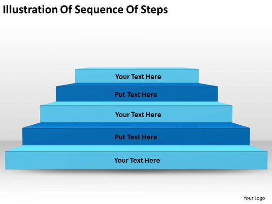 Illustration Of Sequence Steps Ppt 1 Write Business Plan Template PowerPoint Templates