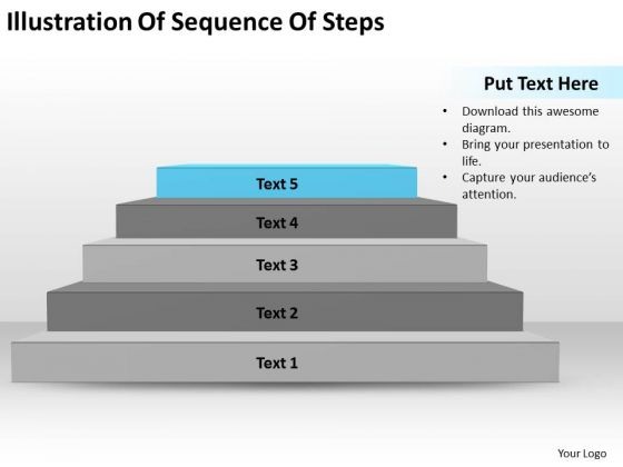 Illustration Of Sequence Steps Ppt Business Executive Summary PowerPoint Slides