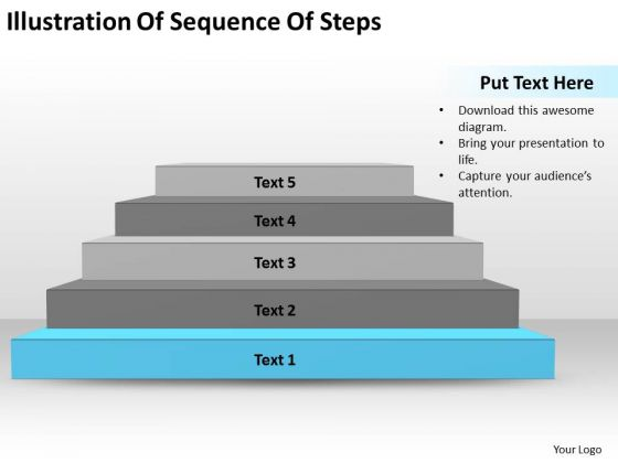 Illustration Of Sequence Steps Ppt Business Plans Format PowerPoint Slides
