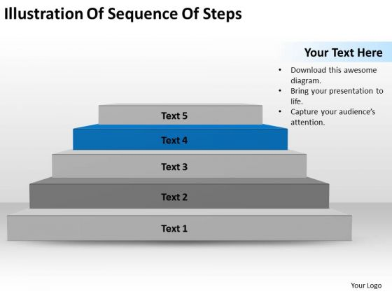 Illustration Of Sequence Steps Ppt Small Business Plan Template PowerPoint Slides