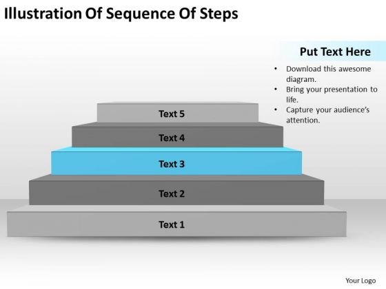 Illustration Of Sequence Steps Ppt Write Business Plan PowerPoint Templates